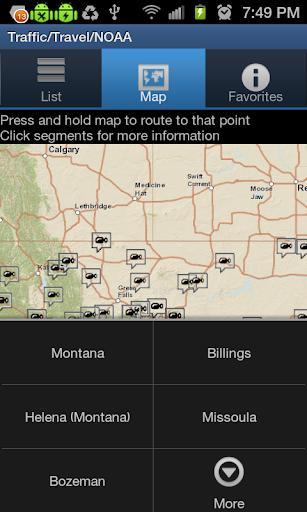 無料旅游AppのMontana Traffic Cameras|記事Game