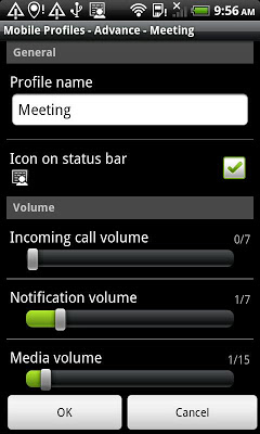 Mobile Profiles - screenshot