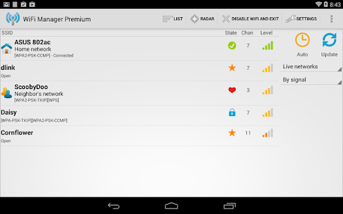 WiFi Manager - screenshot thumbnail