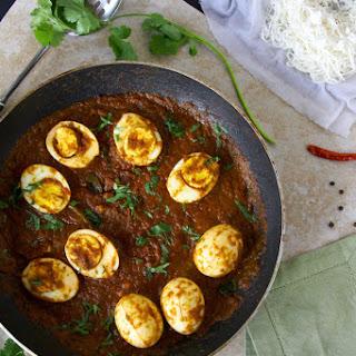 Egg Vindaloo And String Hoppers (Idiyappam).