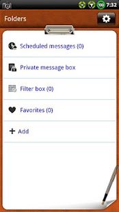 Leather NotePad GO SMS Theme- screenshot thumbnail