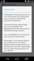 Screenshot of RootCloak Plus (Cydia)