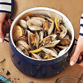 Beer-Steamed Soft-Shell Clams.