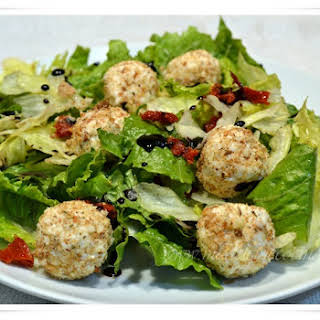 Salad with Breaded Goat Cheese Balls.