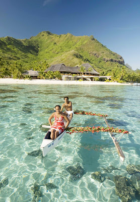 True luxury is getting a lovely breakfast delivered by canoe on Mo'orea.
