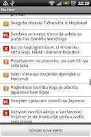 Screenshot of Novine