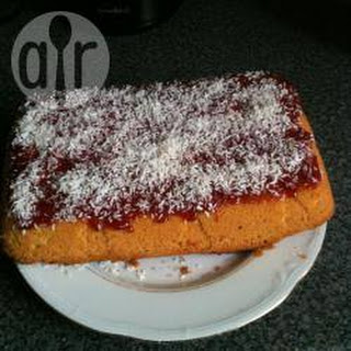 Jam And Coconut Sponge Cake.