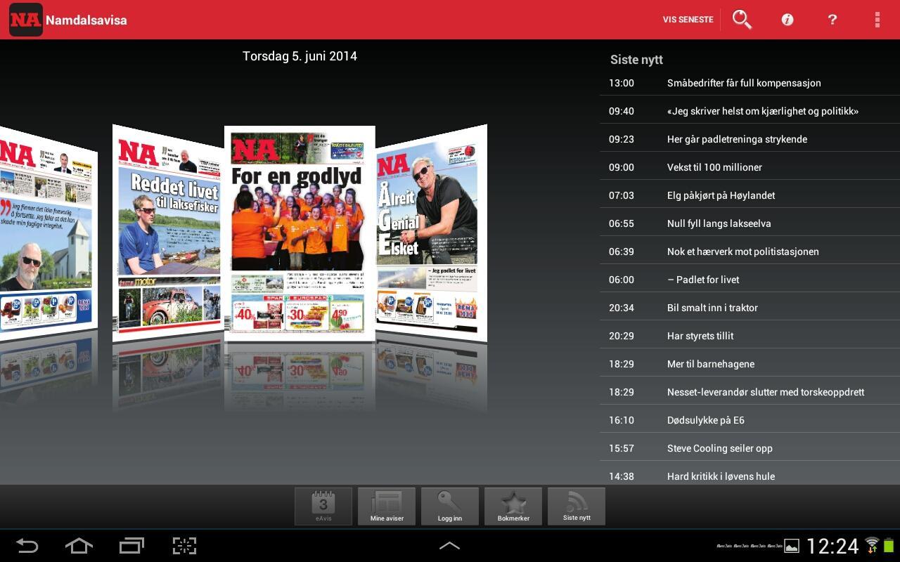 Namdalsavisa - screenshot