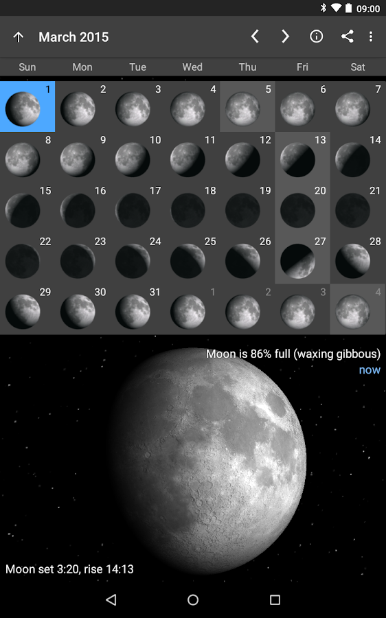Moon Phase Pro - screenshot