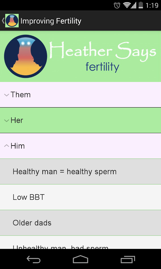 Heather Says - Fertility- screenshot