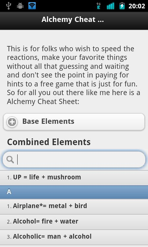 game little alchemy