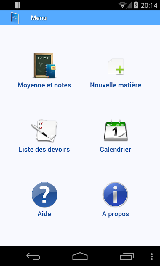 Agenda scolaire - screenshot