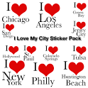 I Love My City Sticker Pack icon