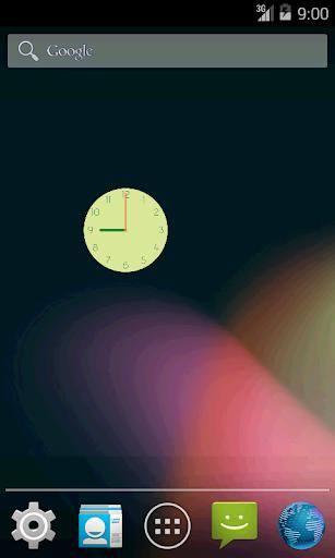 見やすい時計 Flat Design Clock