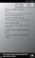 Screenshot of Запись звонков