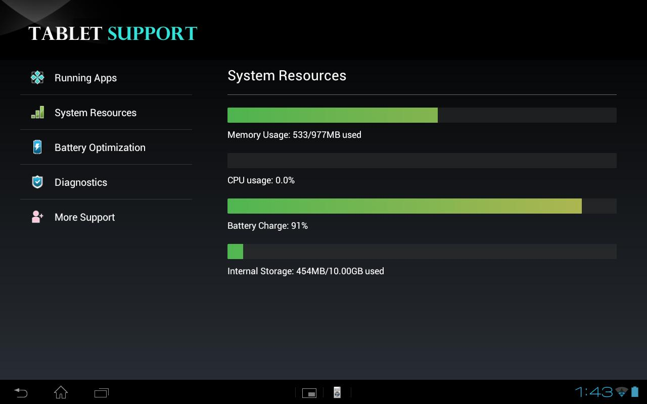 Tablet Support- screenshot