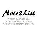 Note2List icon
