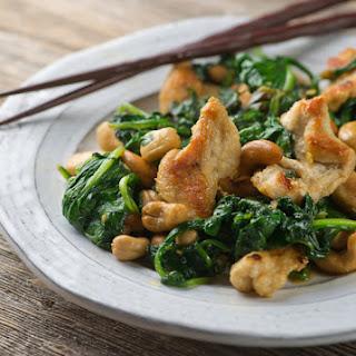 Cashew Chicken with Spinach