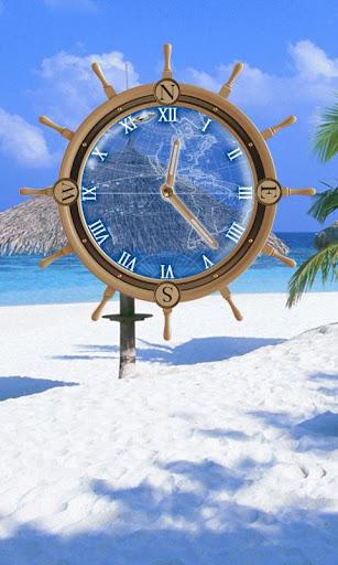 My Beach Clock Live Wallpaper