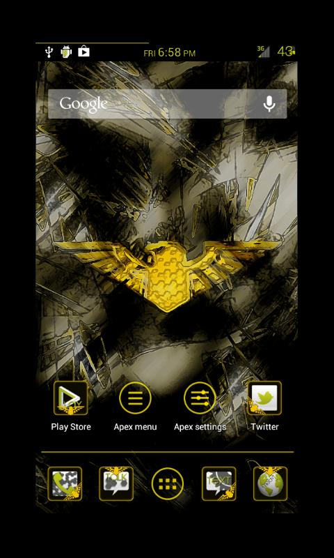 Liberty Yellow Apex Theme- screenshot
