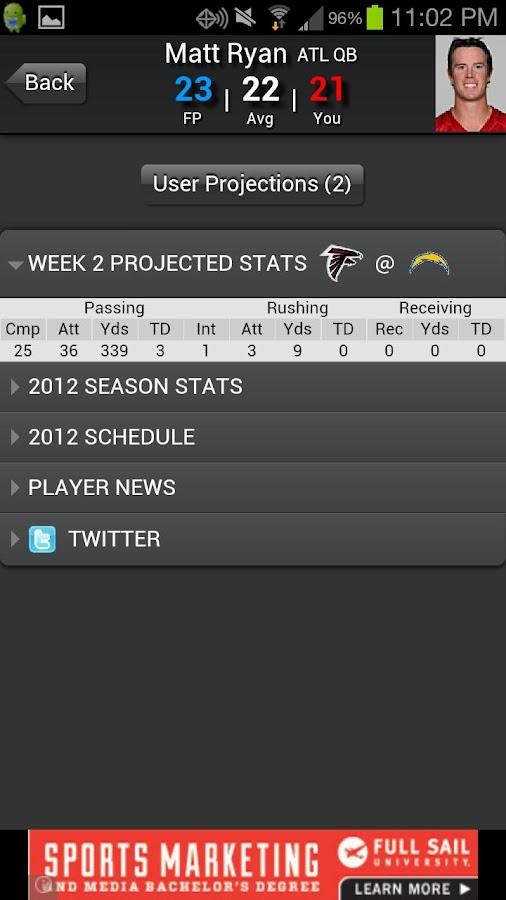 Fantasy Football Predictor '14- screenshot