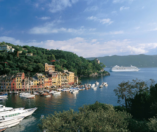 Crystal_Symphony_Portofino - History and beauty meet in lovely Portofino, Italy, during a Crystal Symphony cruise.