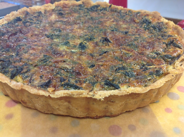 Our famous Spinach and Mushroom Quiche!