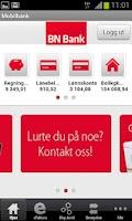 Screenshot of BN Bank Mobilbank