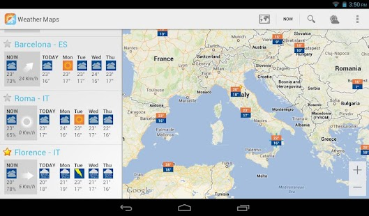 Weather Maps Beta - screenshot thumbnail