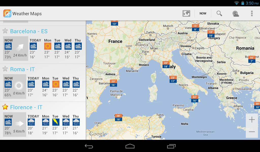 Weather Maps Beta - screenshot