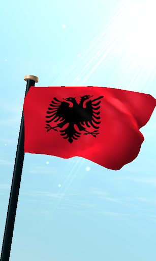 阿爾巴尼亞旗3D動態桌布