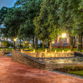 Veterans Park by RomanDA Photography - City,  Street & Park  Fountains ( park, light )