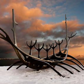 Sólfarið (The Sun Voyager) by Anna Guðmundsdóttir - Artistic Objects Other Objects ( sun voyager, reykjavík, art, ísland, sólfarið, , #GARYFONGDRAMATICLIGHT, #WTFBOBDAVIS )