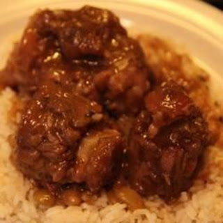 Jamaican Oxtail with Broad Beans.