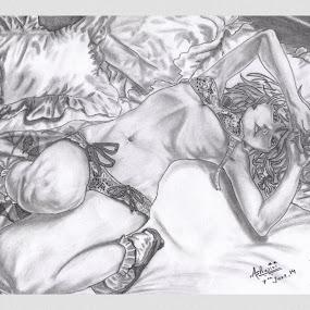 Just a random sketch.... by Ashwini Dey - Drawing All Drawing ( sketch, girl, art, ashwini dey, anime, drawing )