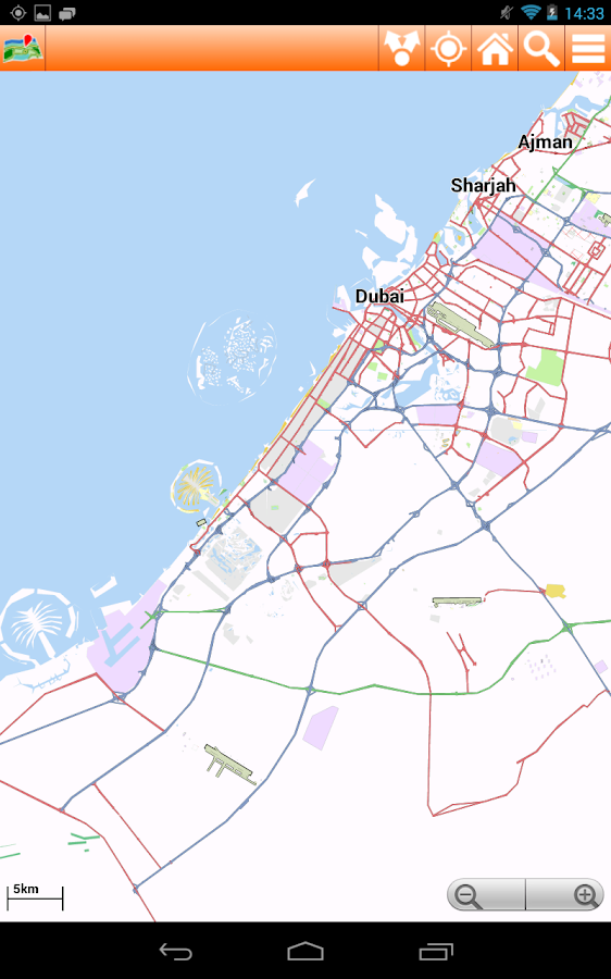 Dubai Offline mappa Map - screenshot