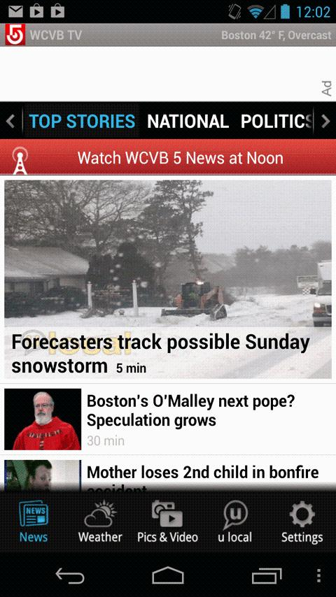 WCVB NewsCenter 5 - screenshot