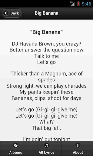 Download Handy Lyrics - Havana Brown Google Play softwares