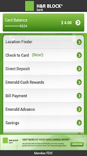 Emerald Card - H&R Block - screenshot thumbnail