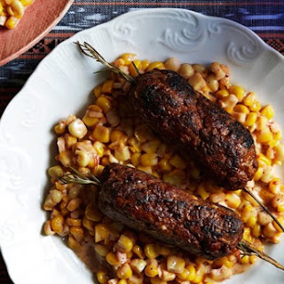 Rosemary Lamb Kofte With Creamed Corn