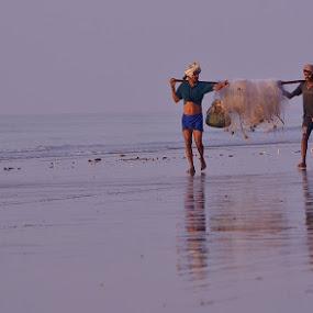 The LIFE by Chobi Wala - Landscapes Beaches ( #nature #life #beaches #sea #landscapes, , Beach, sunset, blue, water, ocean. , noordhoek, south africa, noordhoekchallenge )