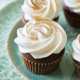 Grain-Free Chocolate Cupcakes with Toasted Marshmallow Topping Recipe
