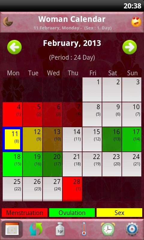Woman Calendar/Period Tracker+- screenshot