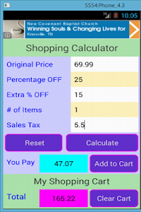 Shopping Calculator screenshot 4