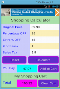 Shopping Calculator- screenshot thumbnail