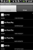 Screenshot of Group SMS & Scheduler