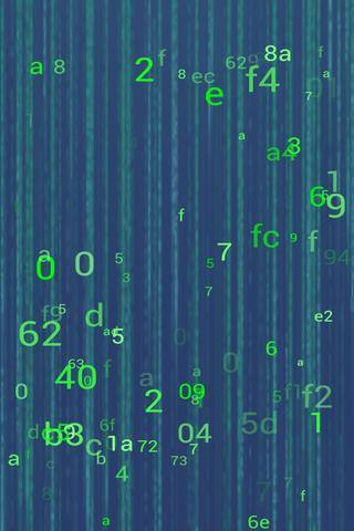 Matrix ScreenSaver - screenshot
