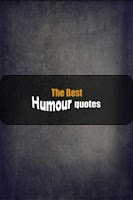 Screenshot of The best Humour quotes