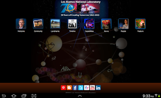 Screenshot of LANL App