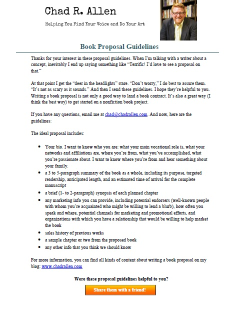 Ways To Make Sure Your Book Proposal Stands Out  Chad R Allen